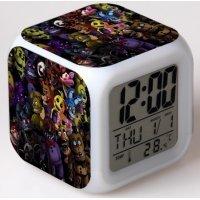 Часы-будильник хамелеон 5 ночей с Фредди FNAF (вариант 1)