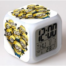 Часы-будильник хамелеон Миньоны Minions (вариант 2)