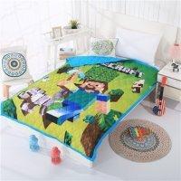 Одеяло Майнкрафт Стив с киркой стеганое (Minecraft)