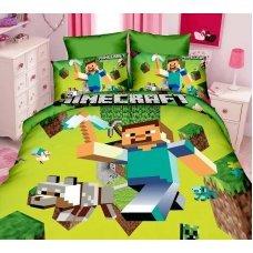 Постельное белье Майнкрафт Стив с киркой Minecraft